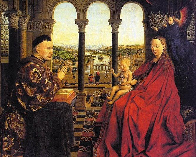 Virgen del canciller Rolin de Van Eyck