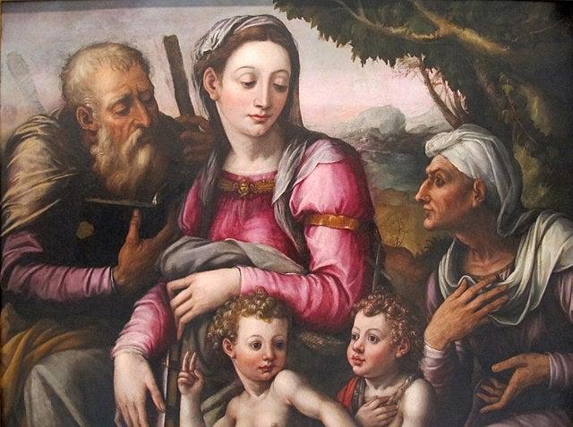 """""""La SAgrada Familia"""", de Giorgio Vasari"""