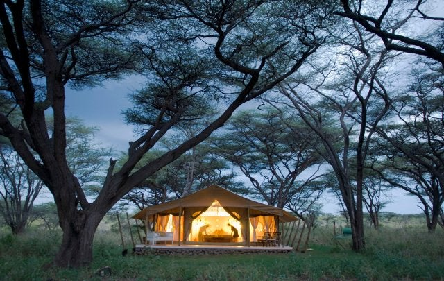 Tienda de glamping en Kenia