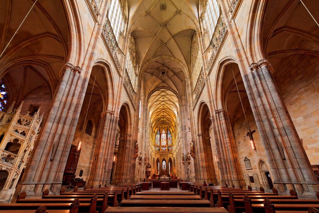Interior de la catedral de San Vito de Praga