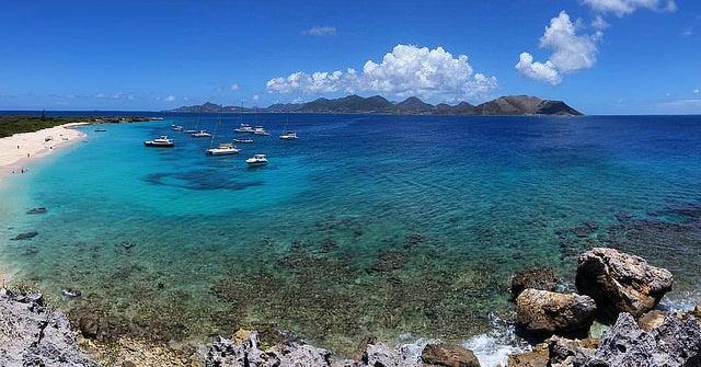 Isla Tintamarre en la isla de San Martin