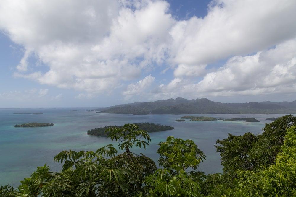 LAgo Marovo en las islas Salomon