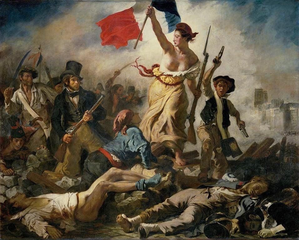Libertad guiando al pueblo ene el Louvre