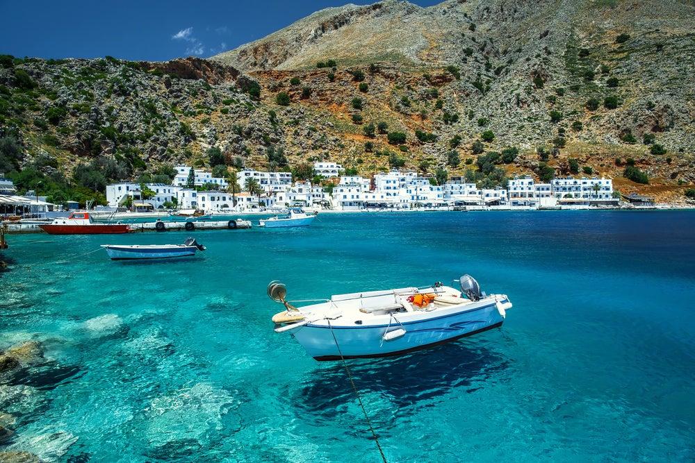 Loutro en la isla de Creta