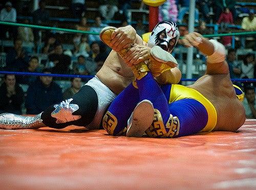Combate de lucha libre en Ciudad de México