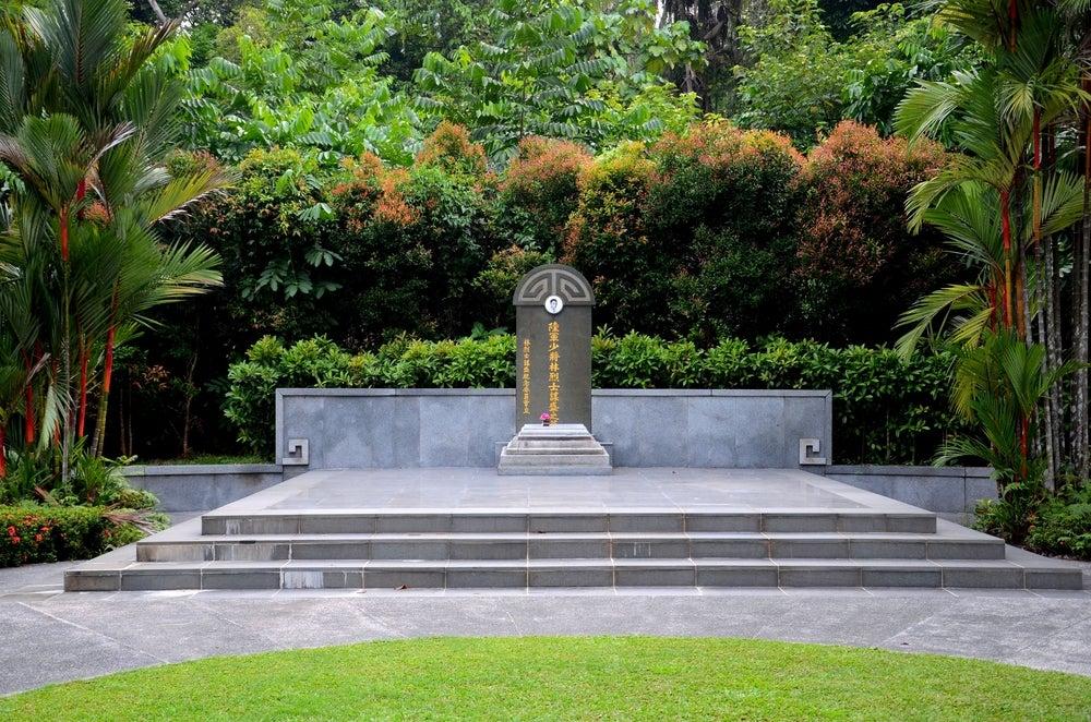Memorial a Lim Bo Seng en el parque Merlion