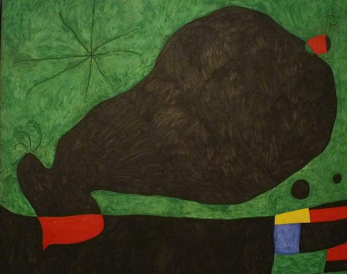 """""""Mensaje de un amigo"""" de Joan Miró"""