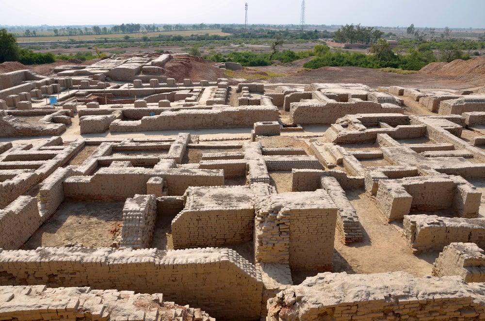 Vista de Mohenjo-Daro en Pakistán
