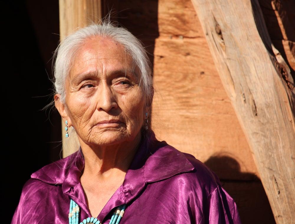 Mujer de la etnia de los navajos