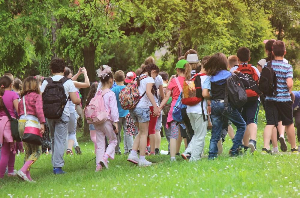 Niños de excursión con el colegio
