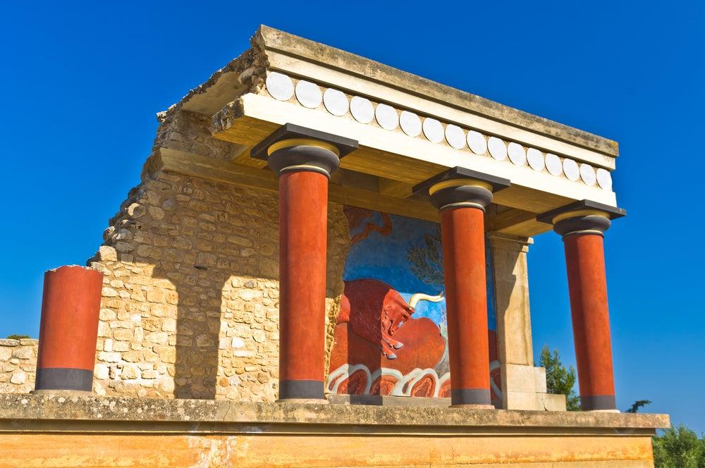 Palacio de Knossos en la isla de Creta
