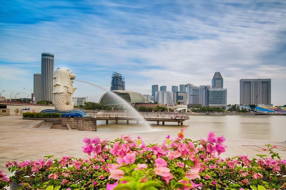 El parque del Merlion, el león-sirena símbolo de Singapur