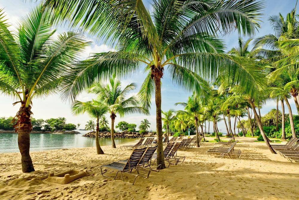 Playa en Isla Sentosa