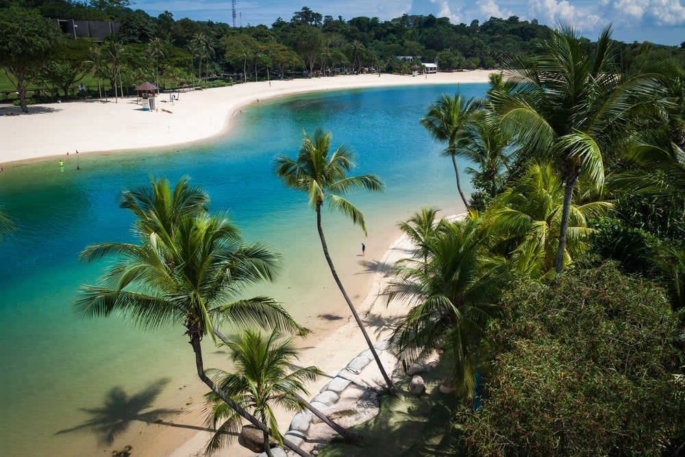 Playa de Palawan en Isla Sentosa