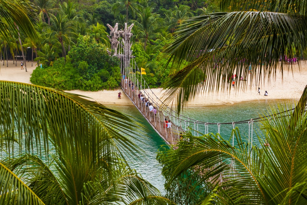 Playa de Siloso en isla Sentosa