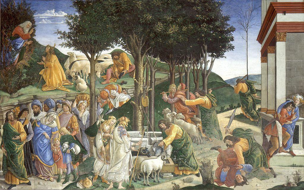 HEchos de Moisés de Sandro Botticelli