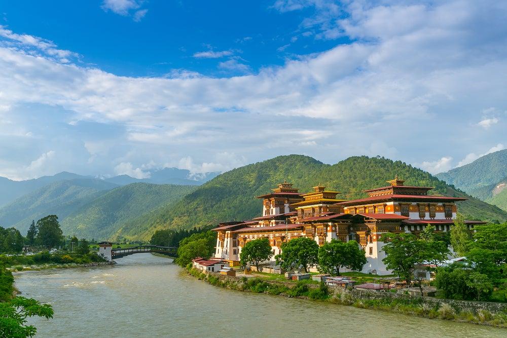 Monasterio Punakha Dzong en Bután