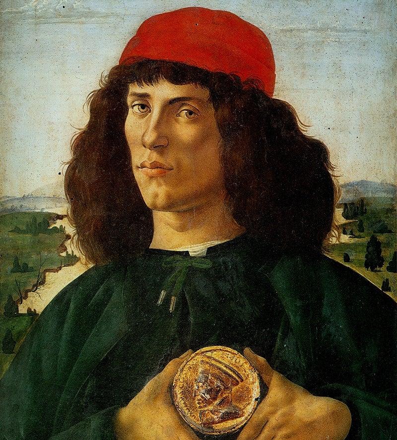 Retrato de Hombre con medalla de Botticelli