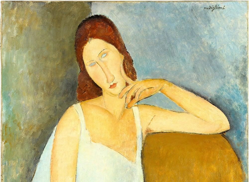 Retrato de Jeanne Hebuterne de Modigliani