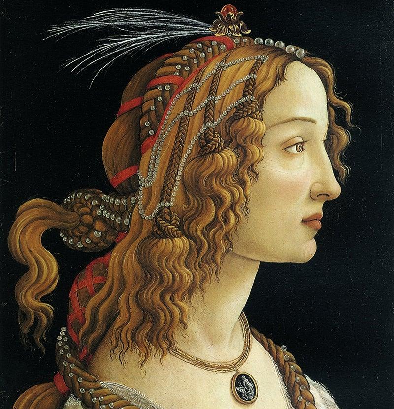 Retrato de una joven de Botticelli
