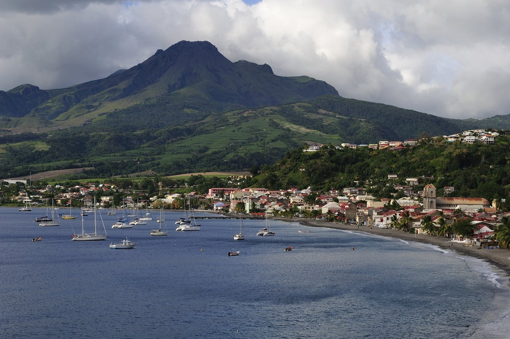 Saint-Pierre en la isla de Martinica
