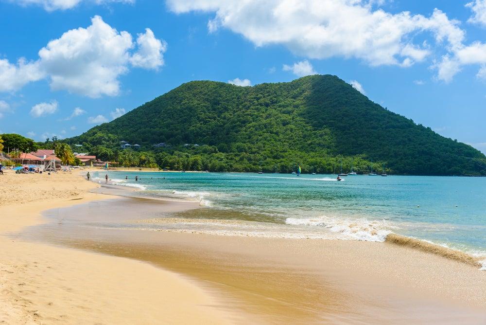 Playa en la isla de Santa Lucía