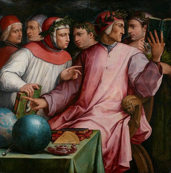 Seis poetas toscanos, cuadro de Giorgio Vasari