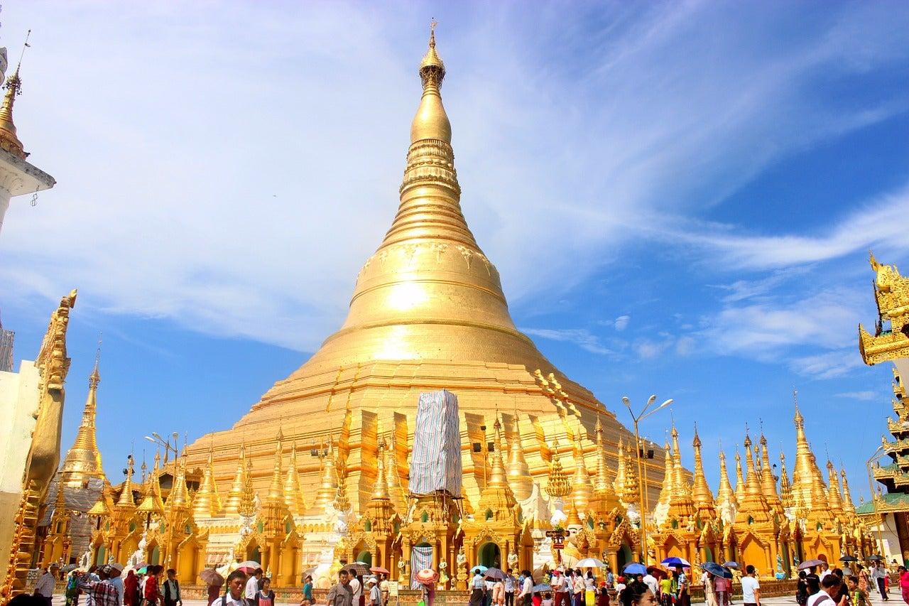 Shwegadon Paya en el templo de Yangón