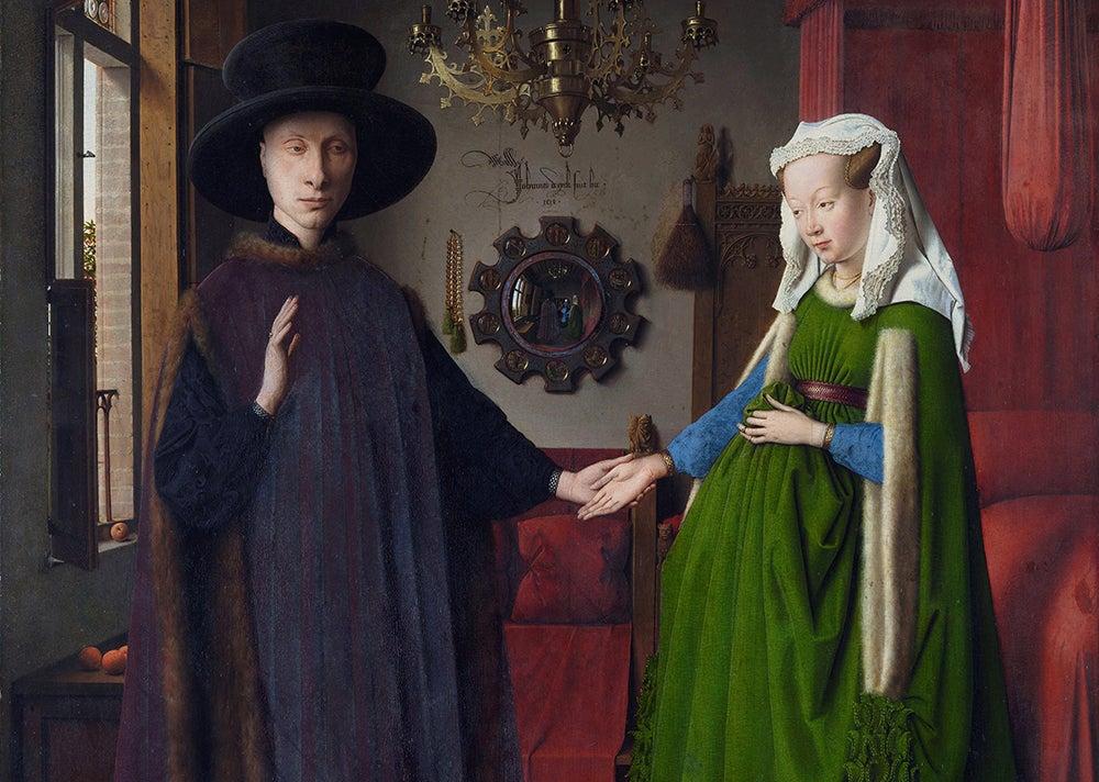 Retrato del matrimonio Arnolfini de Van Eyckd