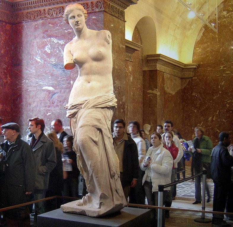 Venus deMilo en el Museo del Lovre