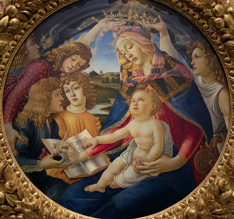 Virgen del Magnificant de Botticelli