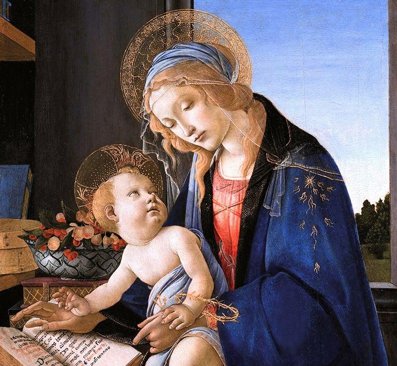 Virgen del libro de Botticelli