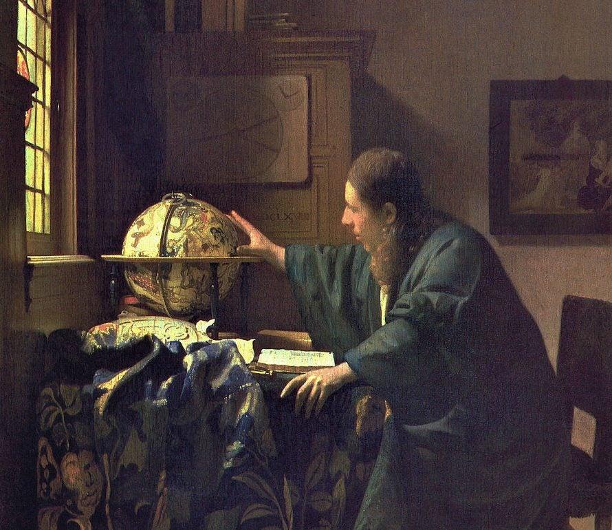 El astrónomo de Johannes Vermeer