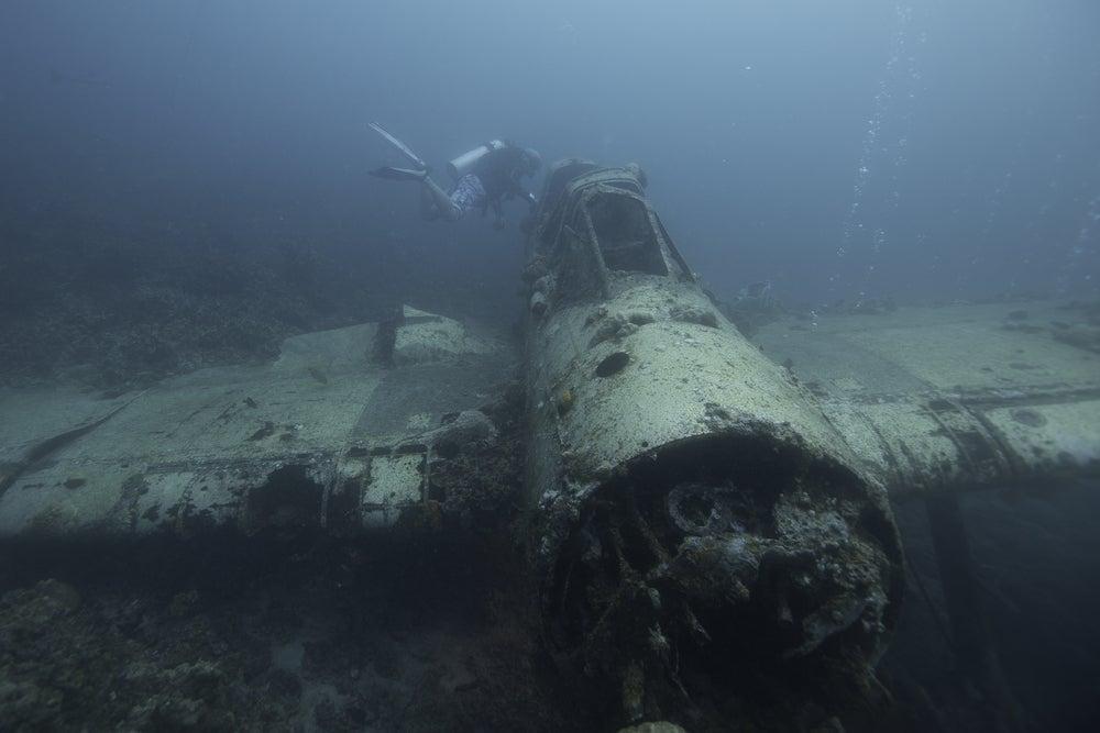 Avión hundido en Palaos