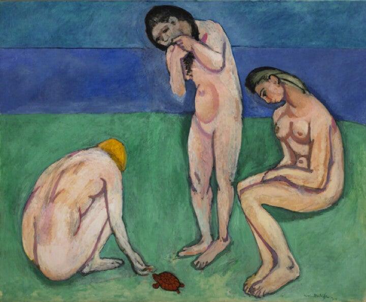"""""""Bañistas con tortuga"""" de Henry Matisse"""