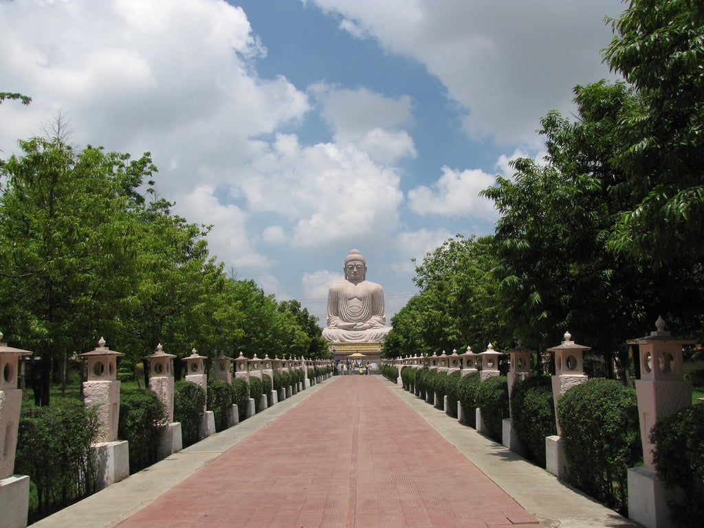 Buda gigante en Bodh Gaya