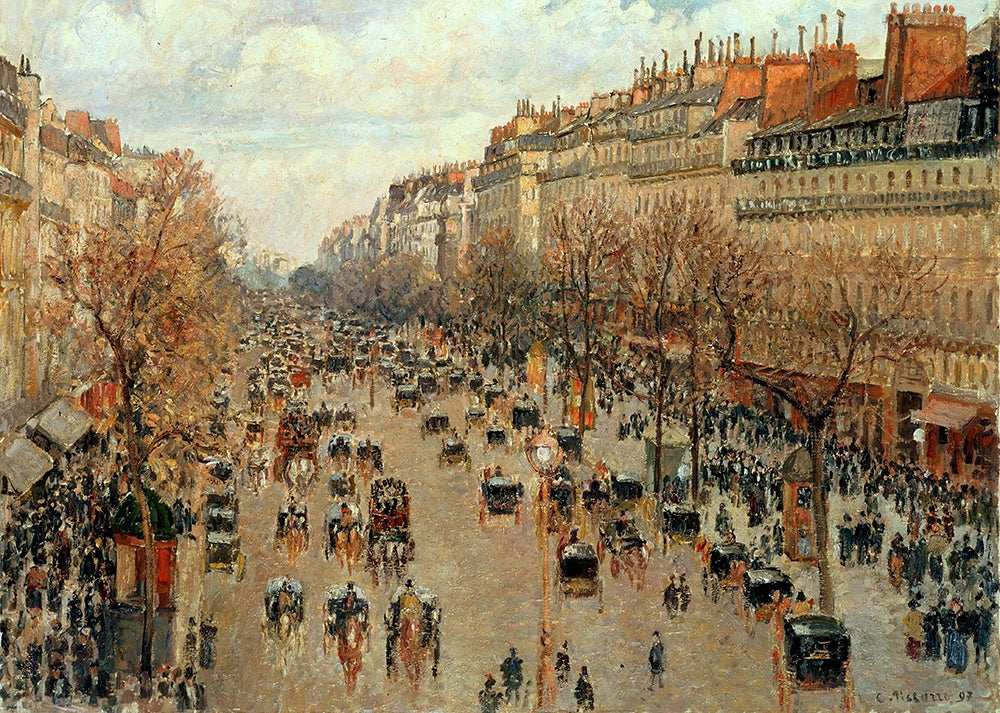 Bulevar de Montmartre de Pissarro