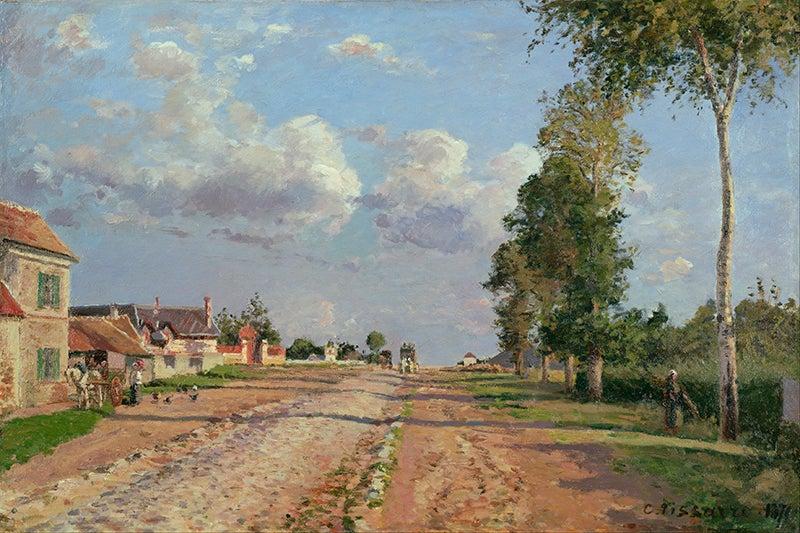 Camino de Versalles de Camille Pisarro