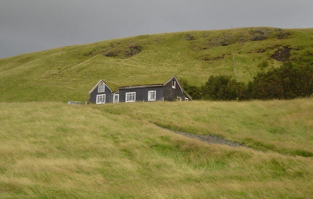 Casa de hierba en Islandia