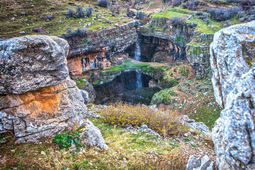 Cascada de Baatara en el Líbano