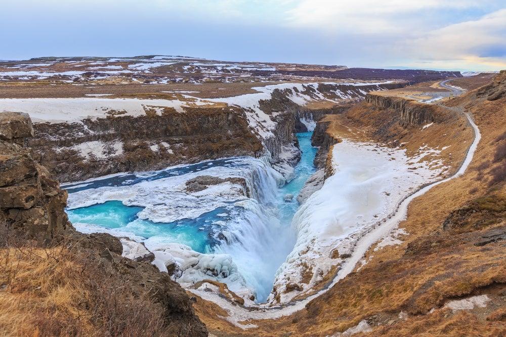 Cascada de Gulfoss en Islandia