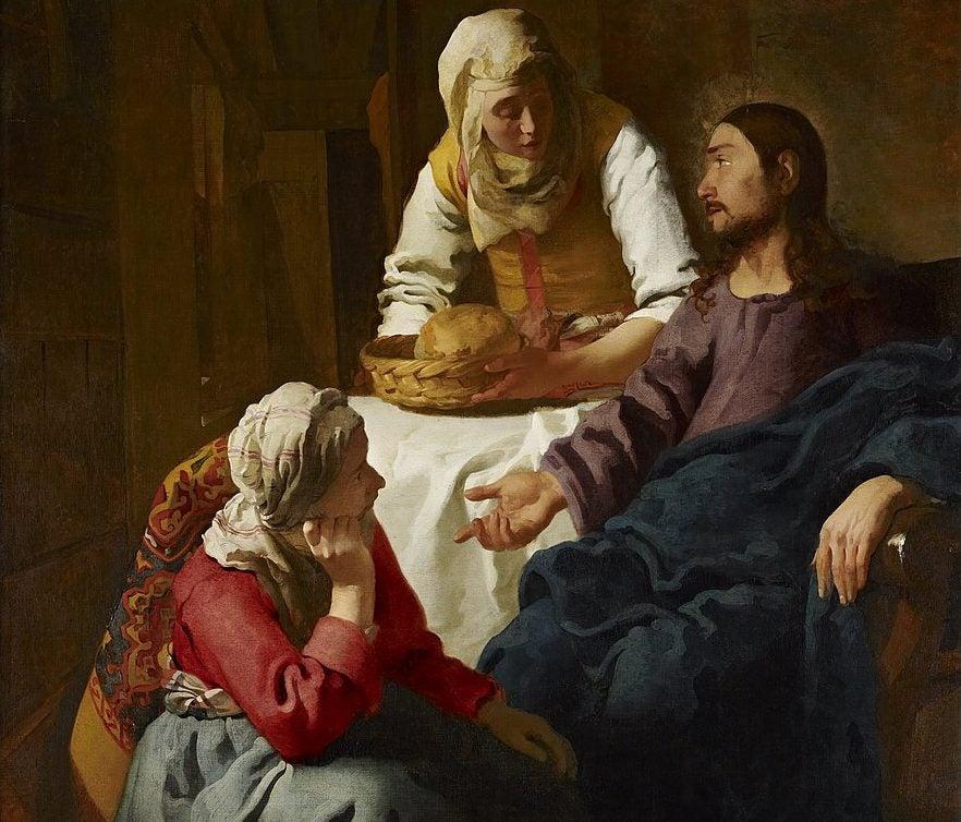 Cristo en casa de Marta y MAría de Johannes Vermeer