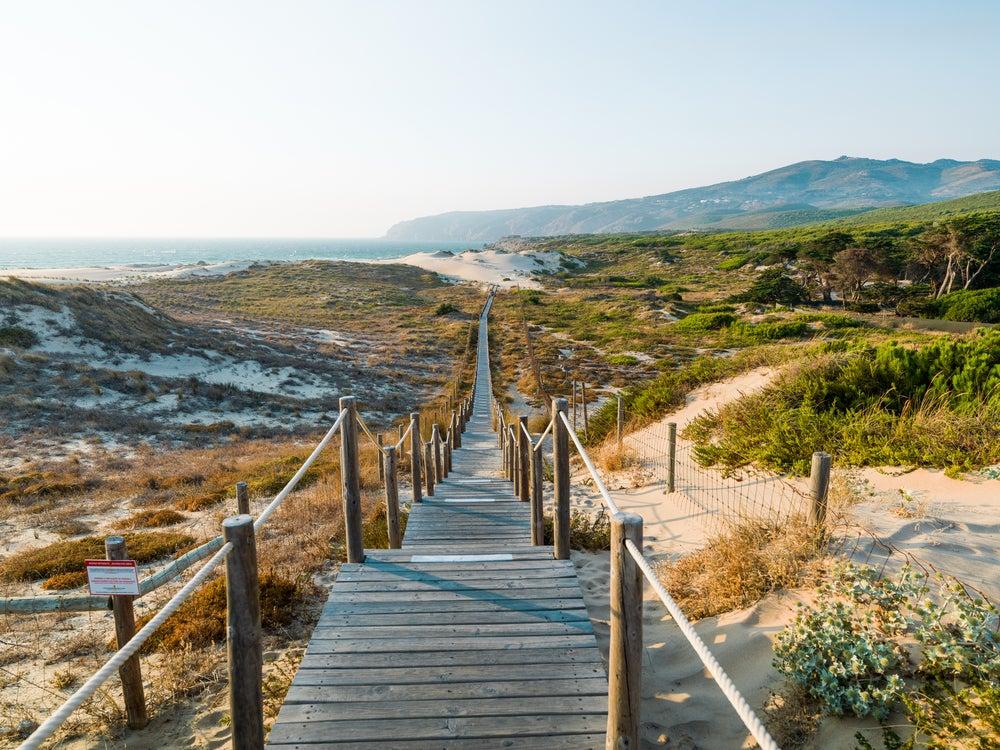 Dunas en la playa de Guincho