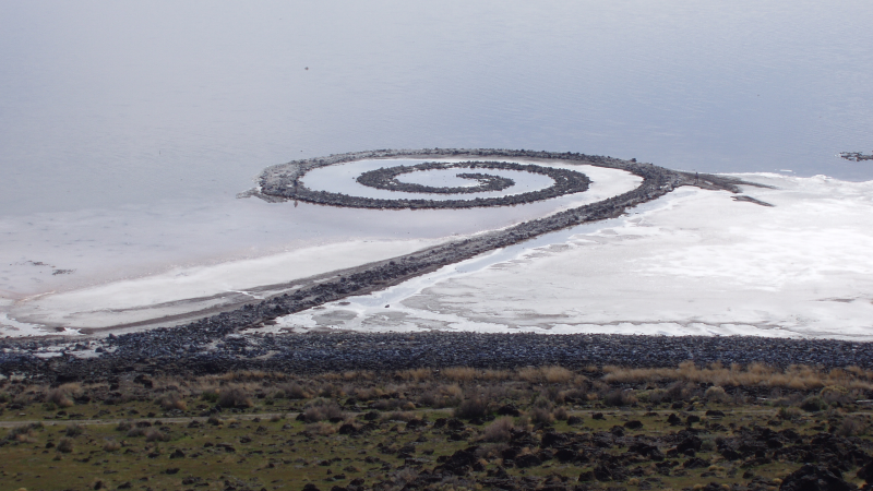 """Espiral Jetty"", de Robert Smithson"
