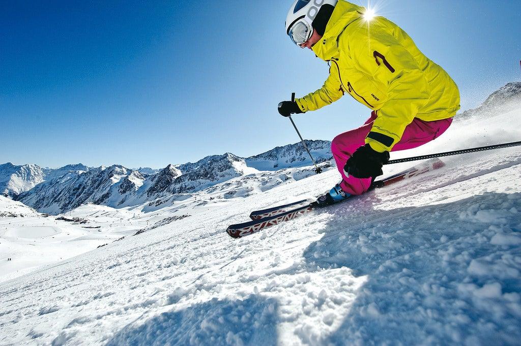 Esquiador en Suiza