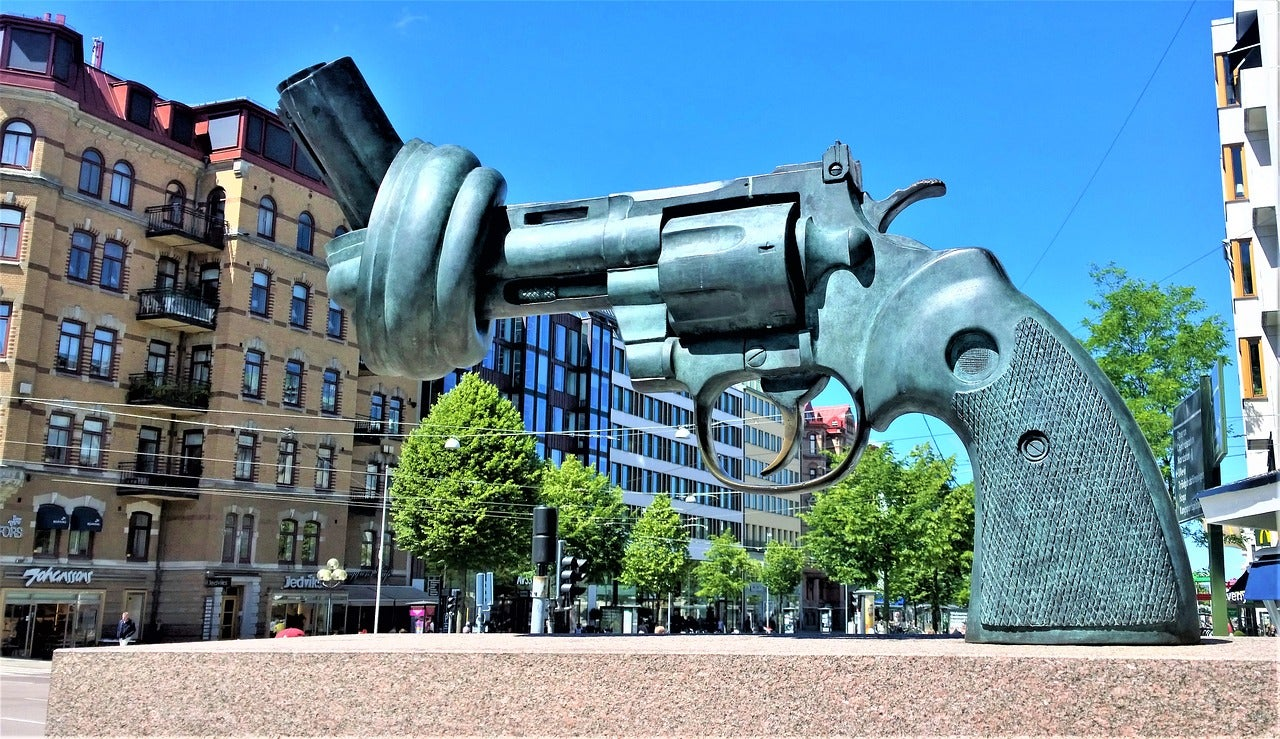 Escultura en las calles de Gotemburgo
