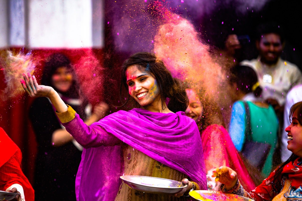 Fiesta del color en la India
