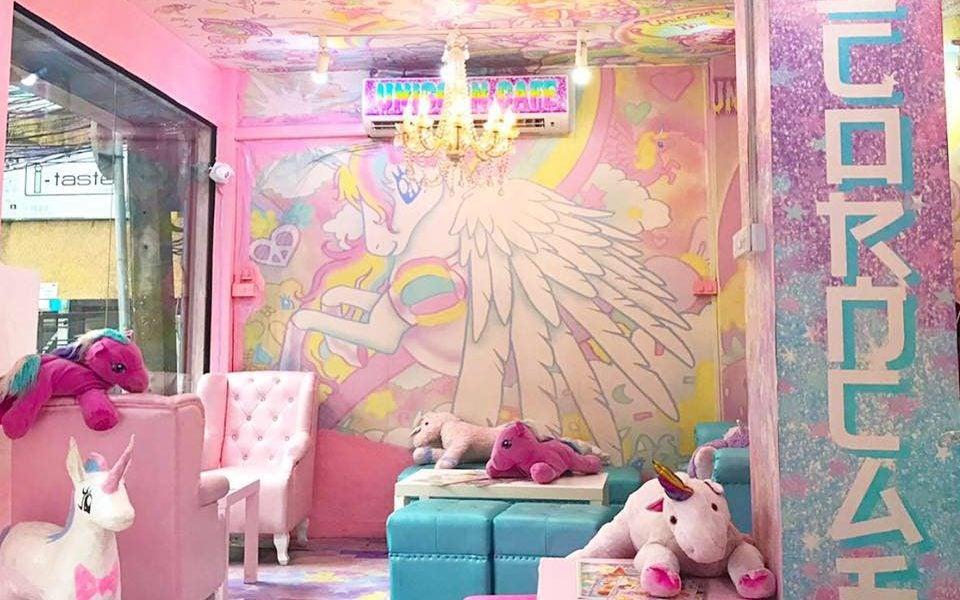 Interior del Unicorn Café