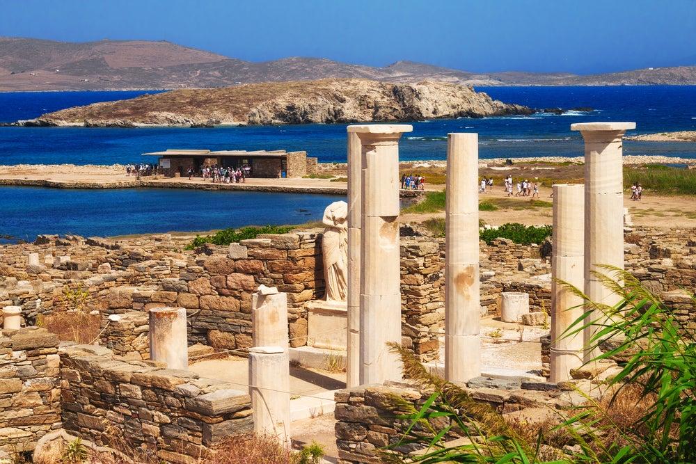 Isla de Delos en Grecia