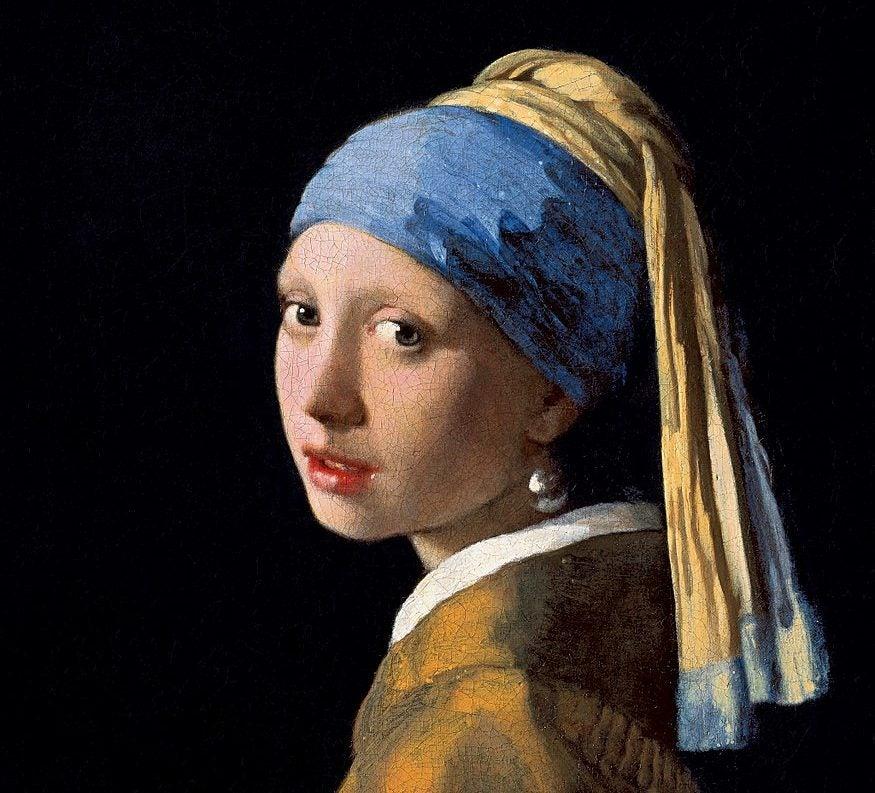 Joven de la perla de Johannes Vermeer